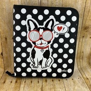 Justice 3 Ring Binder With Folders French Bulldog